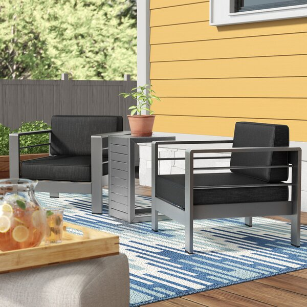 Royalston 3 Piece Seating Group with Cushions