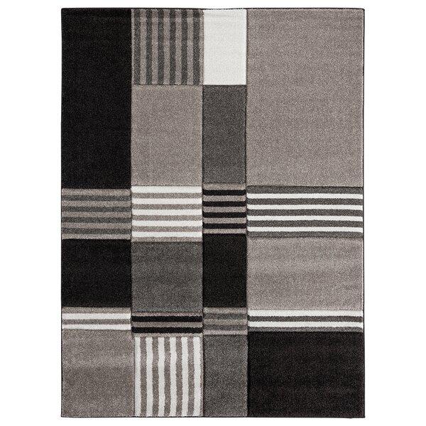 Moerchen Oriental Low Pile Turkish Brown/Black Indoor/Outdoor Area Rug by Orren Ellis