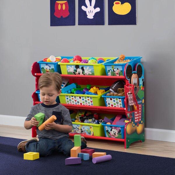Mickey Mouse 10 Piece Toy Organizer Set by Delta Children