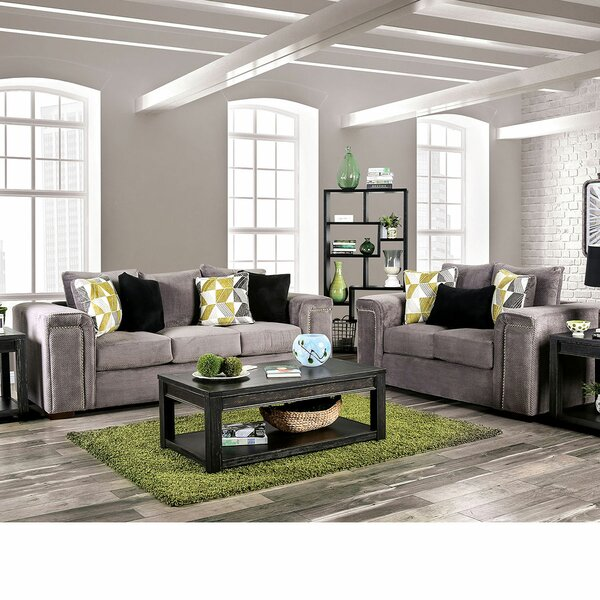 Amsley 2 Piece Living Room Set by Andrew Home Studio Andrew Home Studio
