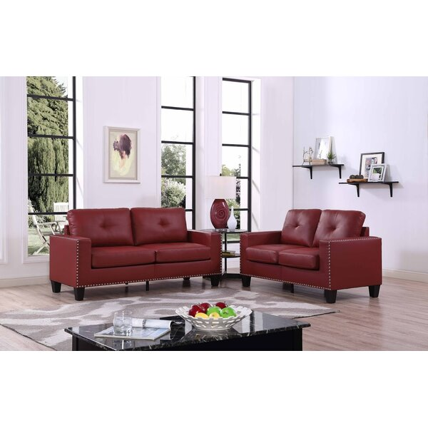 Payson 2 Piece Faux Leather Living Room Set  by Latitude Run