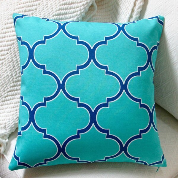 Modern Coastal Geometric Indoor/Outdoor Pillow Cover (Set of 2) by Artisan Pillows