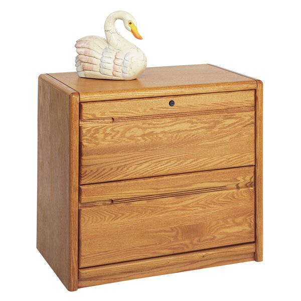 Contemporary Medium Oak 2-Drawer Lateral File by Martin Home Furnishings