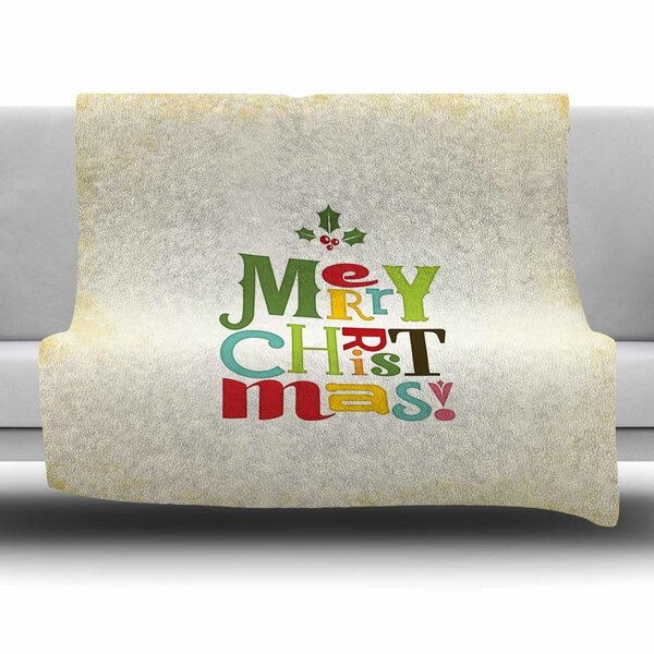 Merry Christmas by Noonday Design Fleece Blanket by East Urban Home