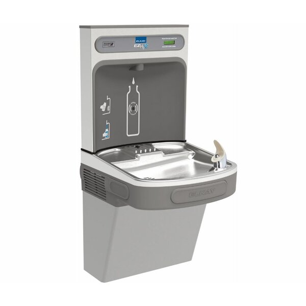 EZH2O ADA Compliant Wall Mount Drinking Fountain with Bottle Filling Station by Elkay