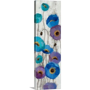 'Bold Anemones Panel III' by Silvia Vassileva Painting Print on Canvas by Canvas On Demand