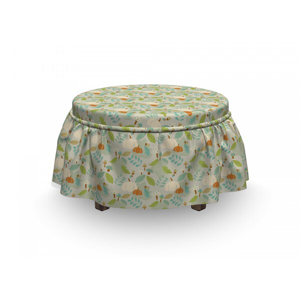 Autumn Dotted Mushrooms Ottoman Slipcover (Set Of 2) By East Urban Home