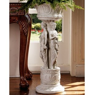 Price Check Chatsworth Manor Neoclassical Urn Pedestal Plant Stand ByDesign Toscano