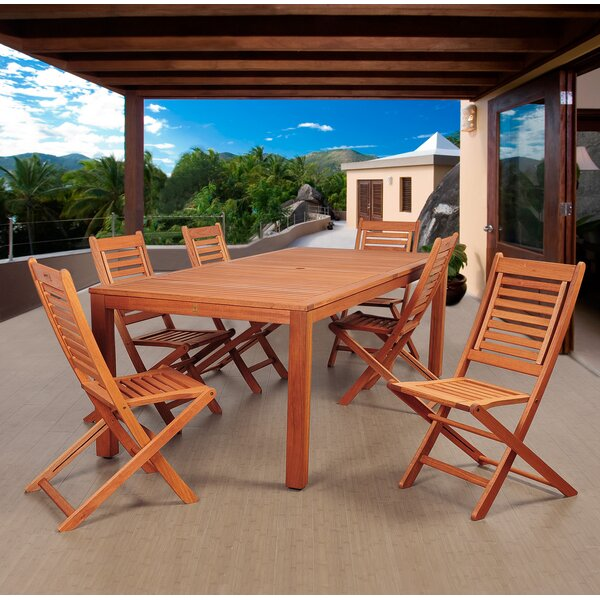 Twigg International Home Outdoor 7 Piece Dining Set by Highland Dunes