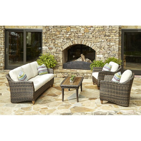 Sycamore 4 Piece Sunbrella Sofa Set with Cushions by Klaussner Furniture