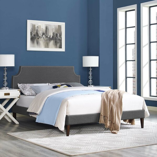 Dixie Upholstered Platform Bed by Andover Mills