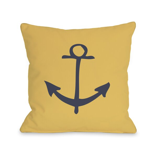 Vintage Anchor Pillow by One Bella Casa