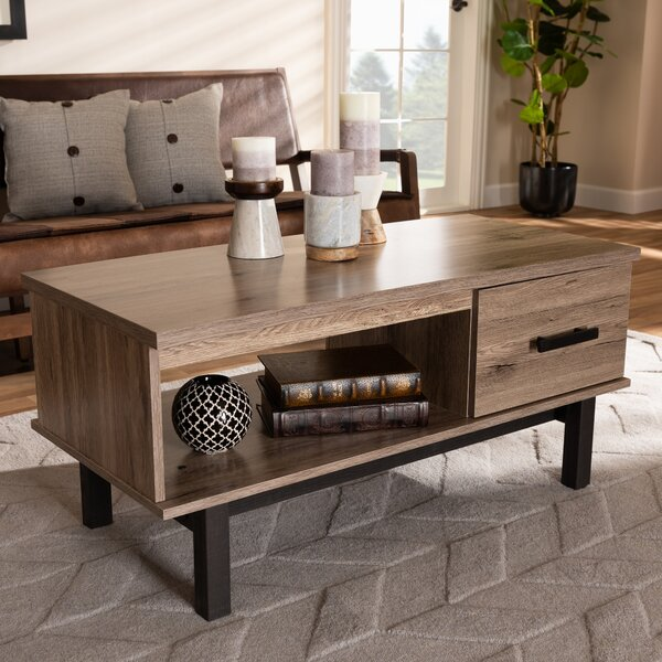 Deals Whittaker 1-Drawer Coffee Table