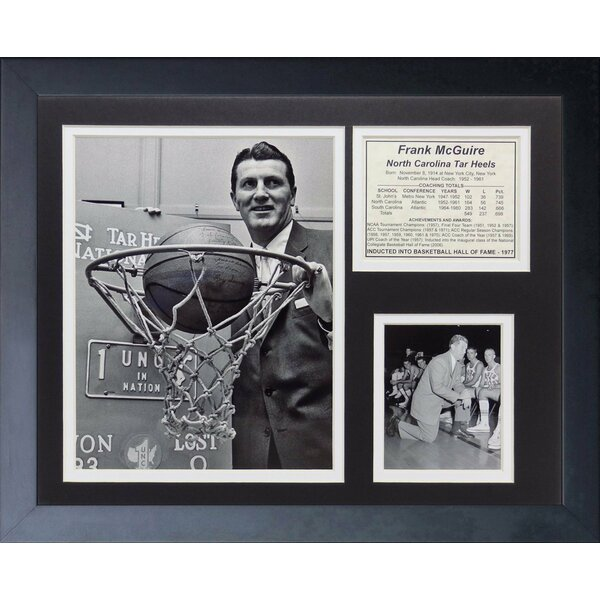 Frank McGuire - North Carolina Framed Memorabilia by Legends Never Die