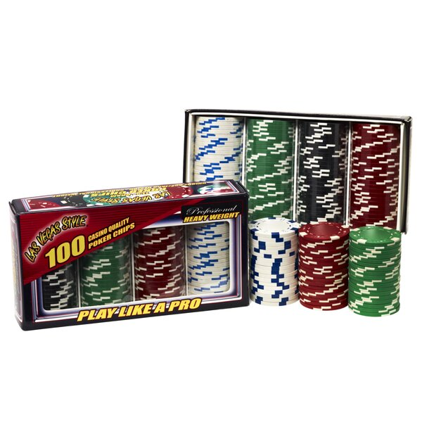 Ace/Jack Poker Chip Set by Las Vegas Style