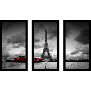Back in Time 3 Piece Framed Photographic Print Set by Picture Perfect International