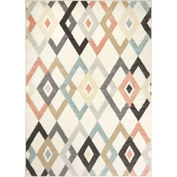 Gaddy Ivory/Cream/Brown Area Rug by Wrought Studio