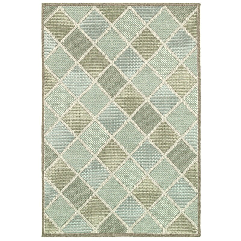 Beachcrest Home Seidenberg Green Indoor Outdoor Area Rug
