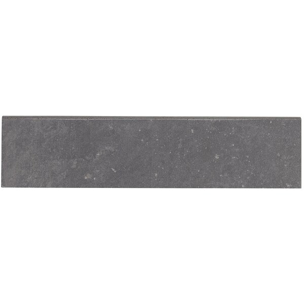 Fairfield 12 x 3 Porcelain Bullnose Tile Trim in Iron Gray by Itona Tile