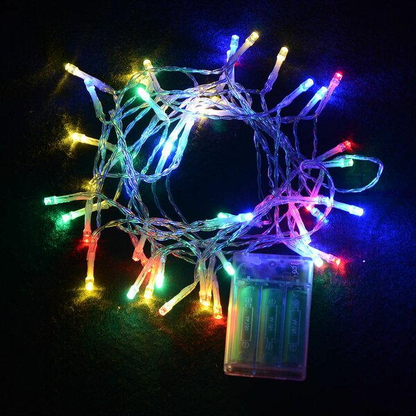 Timer Copper Battery Operated 30 LED String Lights by The Holiday Aisle