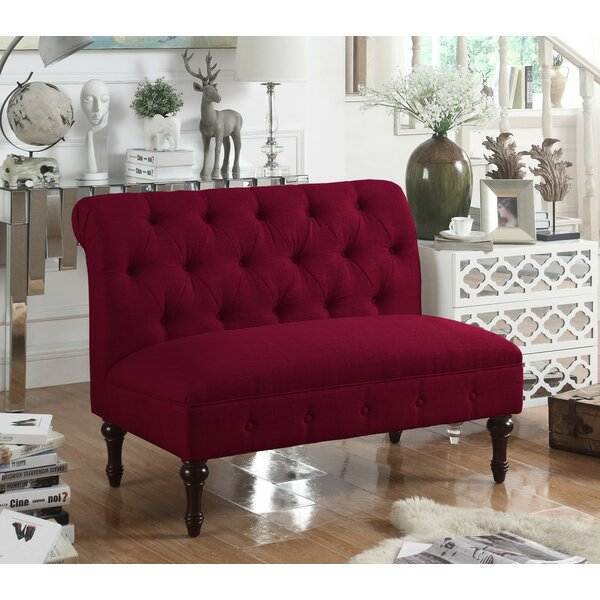 Modern Style Lauryn Tufted Chesterfield Loveseat Hello Spring! 60% Off