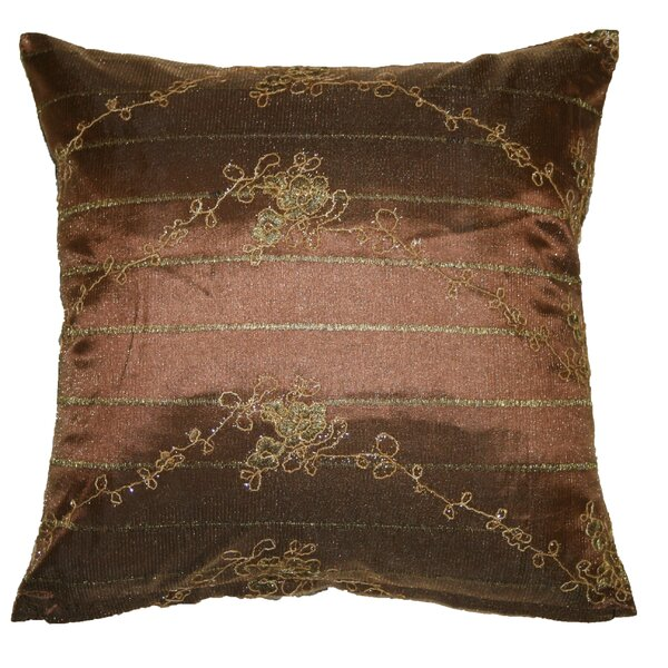 Swiss Embroidered Lace Decorative Pillow Cover by Violet Linen
