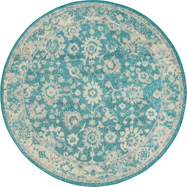Ernst Turquoise/Gray Area Rug by Bungalow Rose