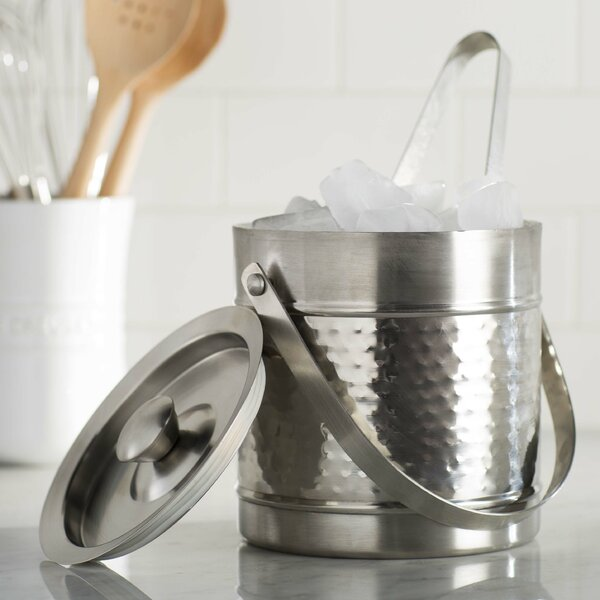 Stainless Steel Ice Bucket By Wildon Home ®.