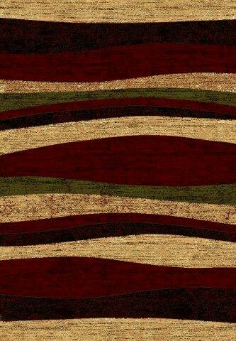LifeStyle Beige/Burgundy Area Rug by Rug Factory Plus