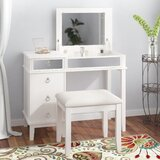 Kemmerer Vanity Set with Mirror by Willa Arlo Interiors