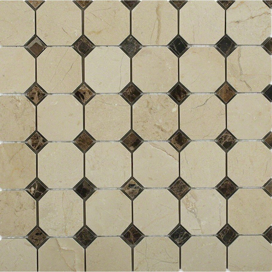 Ivy Hill Tile Octagon With Dot Squares