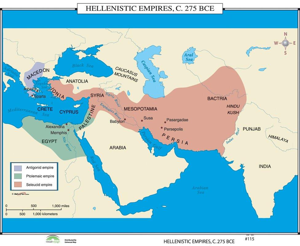 Universal map world history wall maps hellenistic empires world history wall maps hellenistic empires gumiabroncs Choice Image