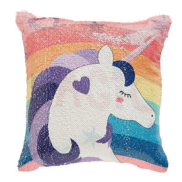 Elliana Unicorn Throw Pillow by Zoomie Kids