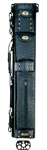 34 3 Butt and 7 Shaft Oval Hard Pool Cue Case by Elite