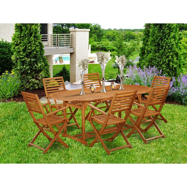 Brandt 7 Piece Patio Dining Set by Longshore Tides
