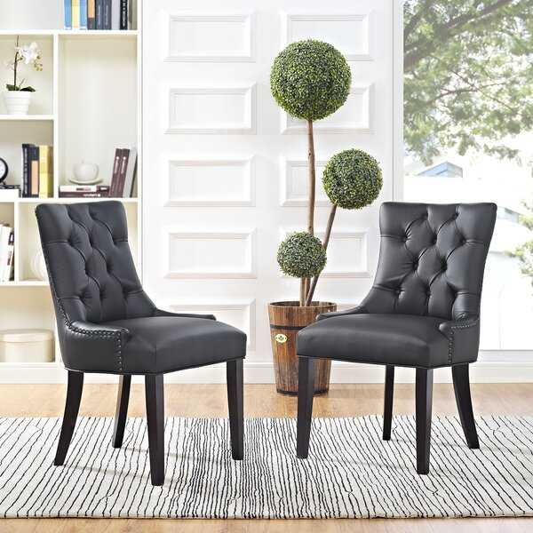 Best #1 Carlton Upholstered Dining Chair By Corrigan Studio No Copoun