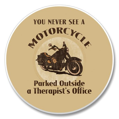 Motorcycle Therapist Auto Coaster by Winston Porter