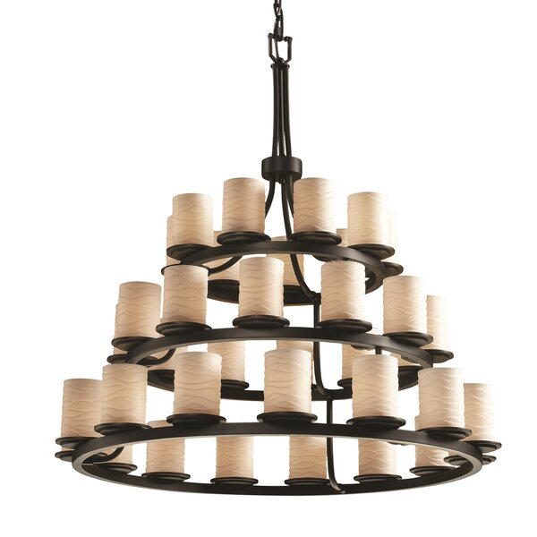 Shekhar 36 - Light Shaded Tiered Chandelier by Wrought Studio Wrought Studio