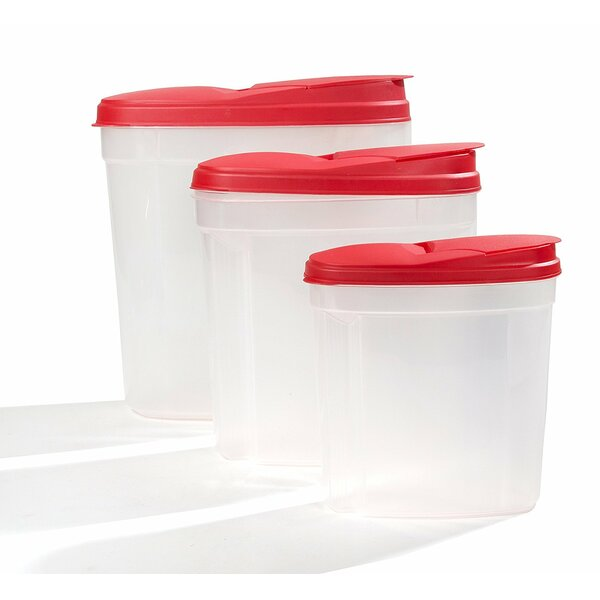 3 Container Cereal Dispenser Set with Lids by Rebrilliant