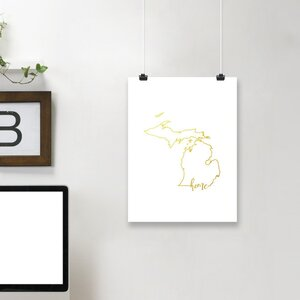 'Michigan Home' Graphic Art Print by East Urban Home