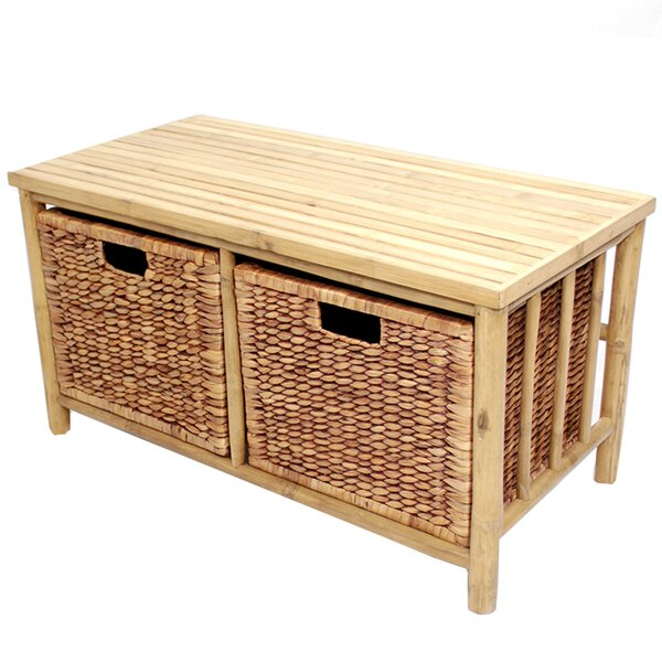 Annapolis Wood Storage Bench by Bay Isle Home