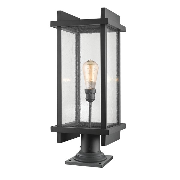 Beeching Outdoor 1-Light Pier Mount Light by Ivy Bronx