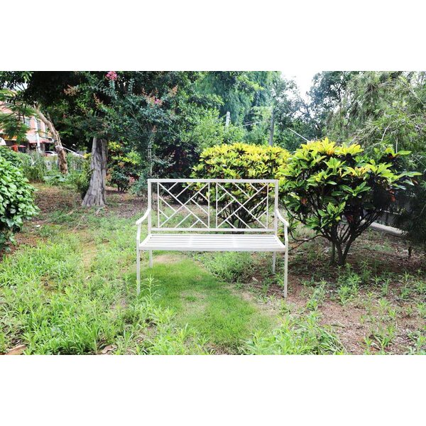 Dawsonville Porch Metal Park Bench by Charlton Home