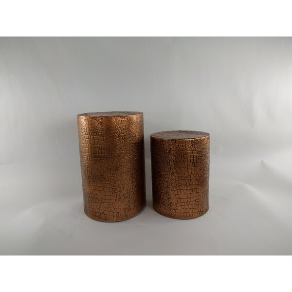2 Piece Accent Stool Set by Gold Eagle USA