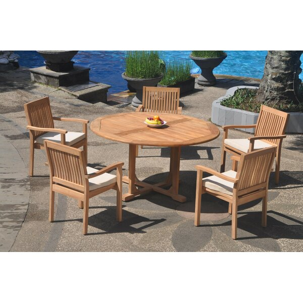 Jennifer 6 Piece Teak Dining Set by Rosecliff Heights