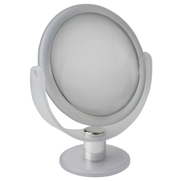 Amya Dual Sided Rubberized Vanity Makeup/Shaving Mirror by Symple Stuff
