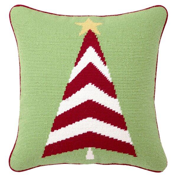 Trim A Tree Needlepoint Throw Pillow by Peking Handicraft
