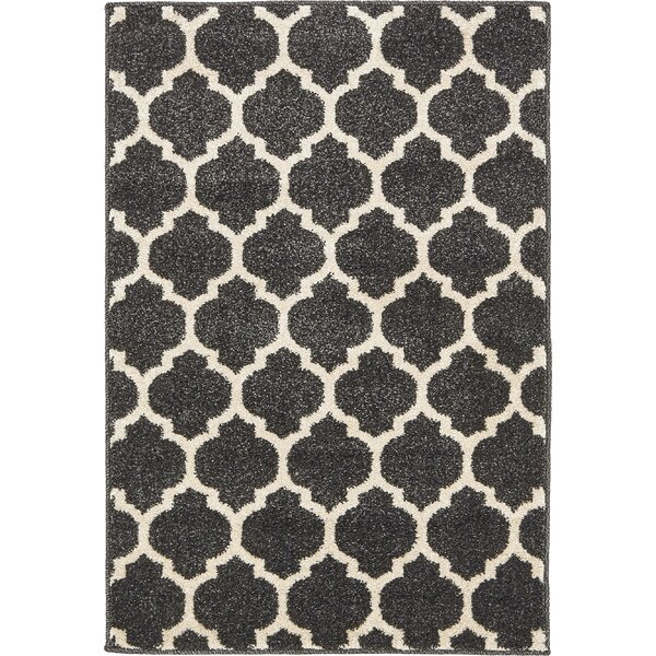 Moore Black Area Rug by Charlton Home