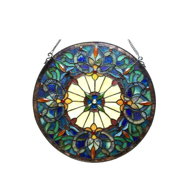 Tiffany Glass Victorian Window Panel by Astoria Grand