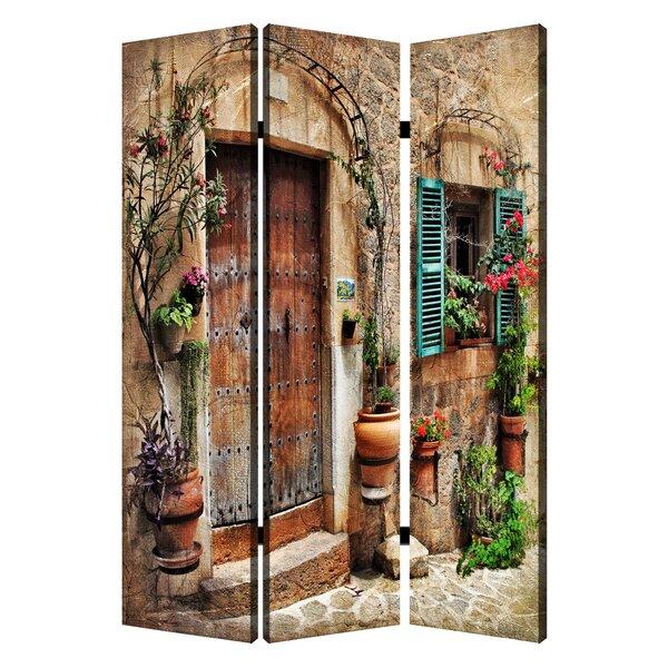 3 panel room divider Screen Gems Inspiration Spanish Tidings 3 Panel Room Divider | Wayfair 3 panel room divider